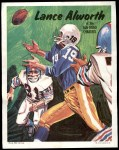 1970 Topps Poster #16  Lance Alworth  Front Thumbnail