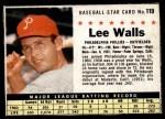 1961 Post Cereal #119 BOX Lee Walls   Front Thumbnail