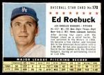 1961 Post Cereal #170  Ed Roebuck   Front Thumbnail