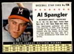 1961 Post #114  Al Spangler   Front Thumbnail