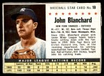 1961 Post Cereal #18  John Blanchard   Front Thumbnail