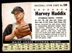 1961 Post #134  Harvey Haddix   Front Thumbnail