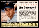 1961 Post #149 BOX Jim Davenport   Front Thumbnail