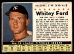 1961 Post Cereal #6 BOX Whitey Ford   Front Thumbnail