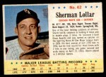 1963 Post Cereal #42  Sherman Lollar  Front Thumbnail