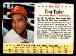 1963 Post #178  Tony Taylor  Front Thumbnail