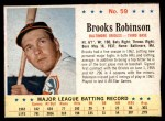 1963 Post #59  Brooks Robinson  Front Thumbnail