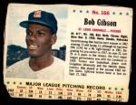 1963 Jello #166  Bob Gibson  Front Thumbnail