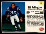 1962 Post Cereal #87  Bill Pellington  Front Thumbnail
