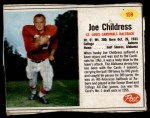 1962 Post Cereal #159  Joe Childress  Front Thumbnail