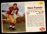 1962 Post Cereal #196  Vince Promuto  Front Thumbnail
