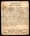 1931 Johnson Candy Dick Tracy R41 #28   Junior Goes Hungry Back Thumbnail