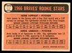 1966 Topps #518   -  Herb Hippauf / Arnie Umbach Braves Rookies Back Thumbnail
