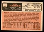 1966 Topps #134  Wes Parker  Back Thumbnail