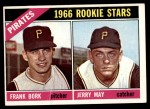 1966 Topps #123   -  Jerry May / Frank Bork Pirates Rookies Front Thumbnail