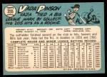 1965 Topps #355  Vada Pinson  Back Thumbnail