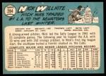 1965 Topps #284  Nick Willhite  Back Thumbnail