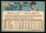 1965 Topps #435  Willie Davis  Back Thumbnail