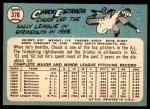 1965 Topps #378  Chuck Estrada  Back Thumbnail