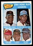 1965 Topps #4   -  Willie Mays / Billy Williams / Johnny Callison / Orlando Cepeda / Jim Hart NL HR Leaders Front Thumbnail