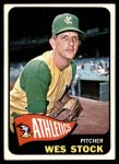 1965 Topps #117  Wes Stock  Front Thumbnail