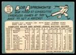1965 Topps #175  Bob Aspromonte  Back Thumbnail