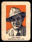 1952 Wheaties #6 POR Sam Snead  Front Thumbnail
