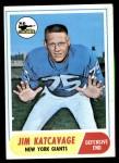1968 Topps #187  Jim Katcavage  Front Thumbnail