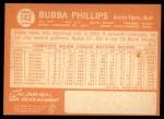 1964 Topps #143  Bubba Phillips  Back Thumbnail