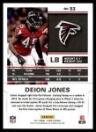 2017 Score #53  Deion Jones  Back Thumbnail