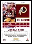 2017 Score #71  Jordan Reed  Back Thumbnail