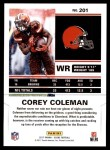 2017 Score #201  Corey Coleman  Back Thumbnail