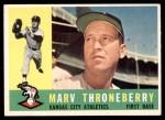 1960 Topps #436  Marv Throneberry  Front Thumbnail