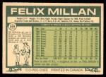 1977 O-Pee-Chee #249  Felix Millan  Back Thumbnail