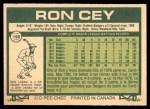 1977 O-Pee-Chee #199  Ron Cey  Back Thumbnail