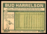 1977 O-Pee-Chee #172  Bud Harrelson  Back Thumbnail