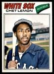 1977 O-Pee-Chee #195  Chet Lemon  Front Thumbnail