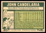1977 O-Pee-Chee #59  John Candelaria  Back Thumbnail