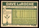 1977 O-Pee-Chee #61  Dave LaRoche  Back Thumbnail