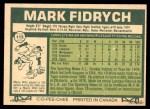 1977 O-Pee-Chee #115  Mark Fidrych  Back Thumbnail