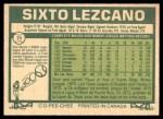 1977 O-Pee-Chee #71  Sixto Lezcano  Back Thumbnail