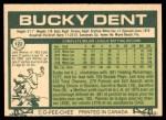 1977 O-Pee-Chee #122  Bucky Dent  Back Thumbnail