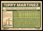 1977 O-Pee-Chee #254  Tippy Martinez  Back Thumbnail
