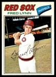 1977 O-Pee-Chee #163  Fred Lynn  Front Thumbnail