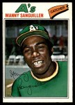 1977 O-Pee-Chee #231  Manny Sanguillen  Front Thumbnail