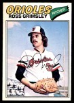 1977 O-Pee-Chee #47  Ross Grimsley  Front Thumbnail