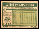 1977 O-Pee-Chee #10  Catfish Hunter  Back Thumbnail
