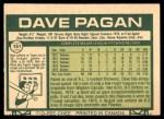 1977 O-Pee-Chee #151  Dave Pagan  Back Thumbnail