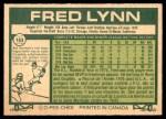 1977 O-Pee-Chee #163  Fred Lynn  Back Thumbnail