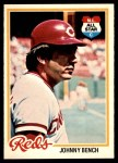 1978 O-Pee-Chee #50  Johnny Bench  Front Thumbnail